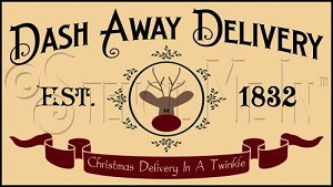 1403 * Dash Away Delivery Stencil 11.25x20