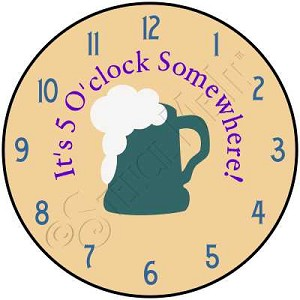 1539 * 5 O'clock Somewhere Clock Stencil 11.25x11.25
