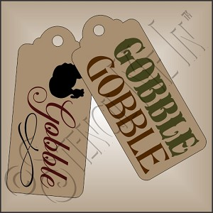 3379 * Gobble Gobble Hang Tag Stencil Set