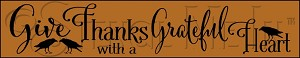 3408 * Give Thanks Stencil 9.25x48
