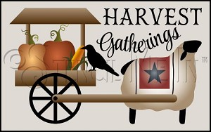 4152 * Harvest Gatherings Stencil 11.25x18