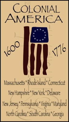 066 * The 13 Colonies Stencil 11.25x20
