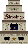 115 * Old Time Blessings Shaker Stencil Set