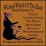 1168 * Wicked Witch Real Estate Halloween Stencil 11.25x11.25