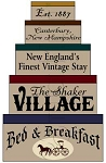 1285* Shaker Village Bed & Breakfast Shaker Stencil Set