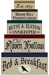 1286 * Old Raven Hollow Bed & Breakfast Shaker Stencil Set