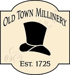 1440 * Old Town Millinery Stencil 11.25x12