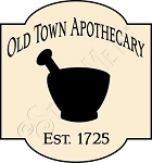 1442 * Old Town Apothecary Stencil 11.25x12