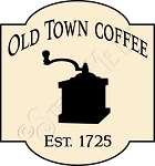 1444 * Old Town Coffee Stencil 11.25x12