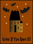 1844 * Enter If You Dare Halloween Stencil 9.25x12