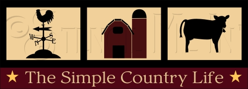 2076 * The Simple Country Life Stencil 7.25x20