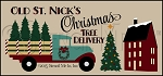 3417 * Old St Nicks Christmas Tree Delivery Stencil 11.25x24