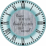 4220 * Time Spent With Family Clock Face Stencil 24x24
