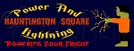 911 * Hauntington Square Power and Lightning Halloween Stencil 9.25x24