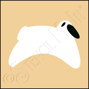 889-CA93 * Sheep Stencil 4x4