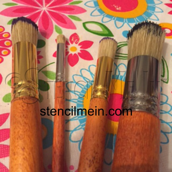 Basic How To Stencil Instructions -Stencil Brushes- by Stencil Me In