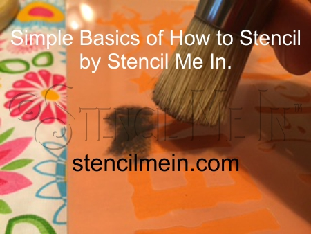 Simple Basics of How To Stencil by Stencil Me In