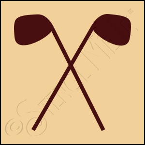 889-CA154 * Golf Clubs Stencil 4x4