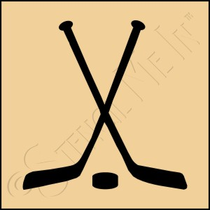 889-CA206 * Hockey Sticks Stencil 4x4