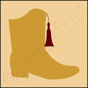 889-CA248 * Drill Team Boot Stencil 4x4