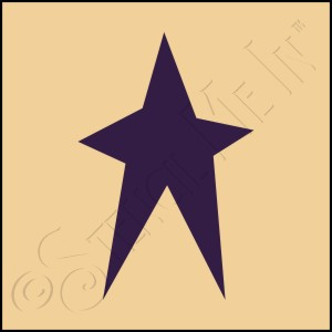 889-CA260 * Folk Art Star Stencil 4x4
