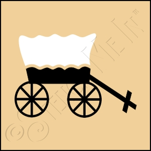 889-CA383 *  Covered Wagon Stencil 4x4