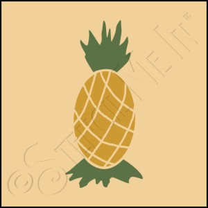 889-CA480 * Pineapple Stencil 4x4