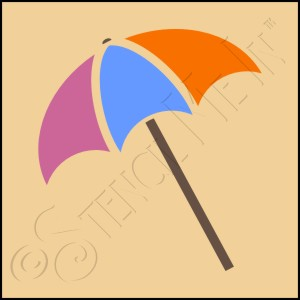 889-CA551 * Beach Umbrella Stencil 4x4