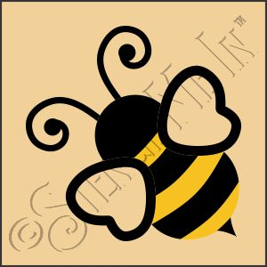 889-CA946 * Honey Bee Stencil Art 4x4