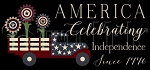 3590 * America Celebrating Independence Stencil 11.25x24