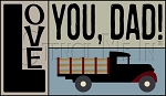 3634 * Love You Dad Block Stencil Set