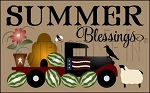 3840 * Summer Blessings Vintage Truck Stencil 11.25x18