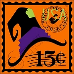 4185 * Witch's Hat Postage Stamp Stencil 11.25x11.25