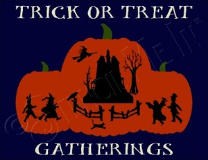 1065 * Trick Or Treat Gatherings Halloween Stencil  9.25x12
