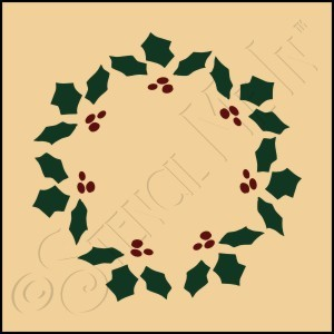 889-CA17 * Holly Wreath 4x4