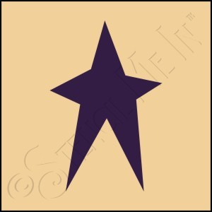 889-CA260 * Folk Art Star 4x4